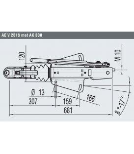 Oplooprem 251-S AL-KO V-dissel opbouw