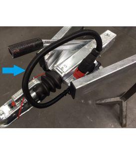 Kabel beschermingsslang zwart PVC
