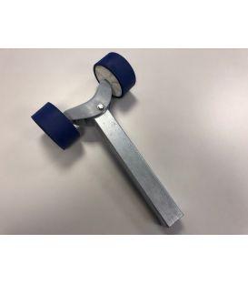 Kimrol-stel 2 rollen blauw/wit met stelpijp